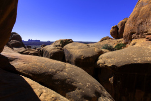 Red rock and blue sky: view from the Fiery Furnace
